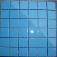 水池蓝色陶瓷马赛克