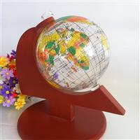 世界地球仪酒瓶木架地球仪摆件