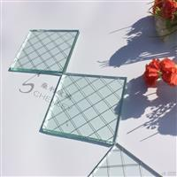 夹铁丝玻璃厂家 高透菱形格