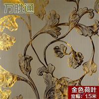 烫金印花金线荷花玻璃夹丝材料