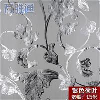 装饰玻璃背景银线荷花夹丝材料