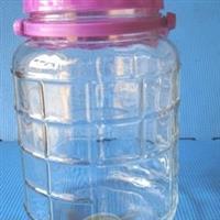 玻璃罐梅酒瓶方格泡酒瓶玻璃制品