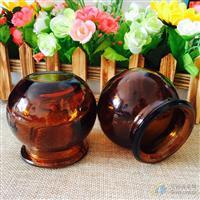 棕色原色拔火罐3号玻璃拔罐器