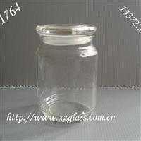 供应玻璃烛台,玻璃罐,储物罐,玻璃盖