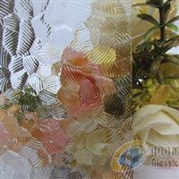 专业生产透明压花玻璃-银波