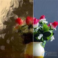 专业生产彩色压花玻璃-茶五月花