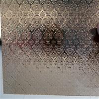 专业生产彩色压花玻璃-茶海棠