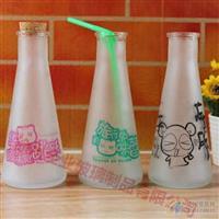 生产蒙砂锥形泡茶玻璃瓶