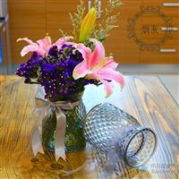创意玻璃瓶喷色花瓶装饰瓶