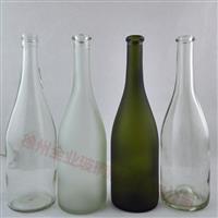 供应蒙砂玻璃酒瓶红酒瓶