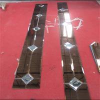 廠家直銷藝術玻璃拼鏡金茶菱形