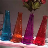 新款锥形雨点玻璃花瓶花器