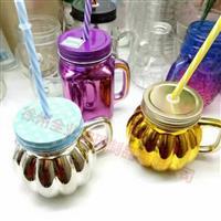 生产喷涂电镀玻璃瓶南瓜饮料瓶
