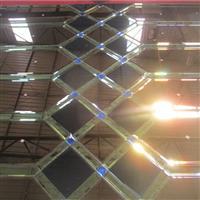 客堂背景墙装置玻璃厂家定制拼镜