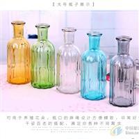 玻璃花瓶欧式喷色玻璃瓶