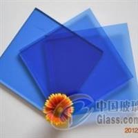 廠家提供寶石藍鍍膜原片反射玻璃