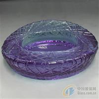 水晶玻璃鸟巢烟缸