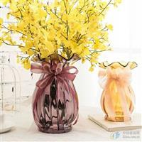 供应玻璃花瓶工艺花瓶彩色花瓶