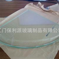 卫浴置钢化物玻璃扇形钢化玻璃