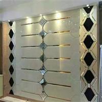 现代中式金箔玻璃拼镜