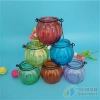 多種顏色噴涂玻璃瓶南瓜吊籃瓶