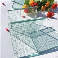 夹铁丝玻璃 防砸防盗玻璃