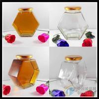 扁型棱角蜂蜜玻璃瓶马口铁盖