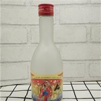 蒙砂喷砂玻璃酒瓶小口瓶