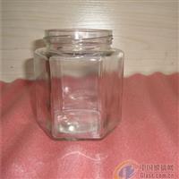 玻璃酱菜瓶六棱果酱瓶蜂蜜瓶