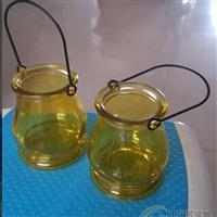 玻璃工艺品双耳吊瓶吊篮颜色喷涂