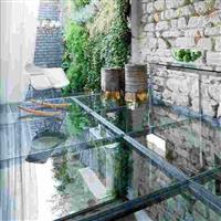 防滑玻璃地板 泳池透明地板