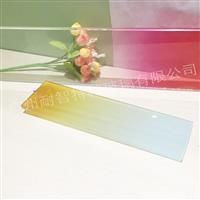 彩色渐变玻璃 蒙砂玻璃