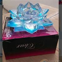 异形玻璃工艺品莲花蜡烛台