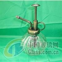 玻璃工藝品透明彩色南瓜噴壺灑水壺
