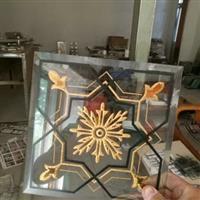 工艺玻璃加工玻璃门芯花沙雕