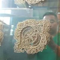 镶嵌玻璃 铜条橱柜玻璃门芯厂家