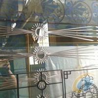 镶嵌浴室门芯玻璃定尺定做 冰晶玻璃钢化门芯