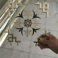 无焊点铜条镶嵌方形门芯花 可定制