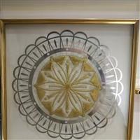 铜条镶嵌窗花门芯玻璃量大价优