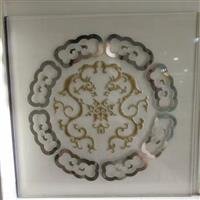 窗花图案圆型门芯玻璃工厂直销