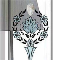 艺术镶嵌铜条移门芯玻璃 冰晶夹胶 长形中空门芯玻璃