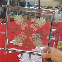 品质 镶嵌玻璃 橱柜玻璃门芯 白色多种花型