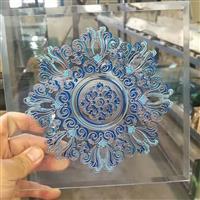 蓝色圆型窗花图案 方形门芯 定制批发