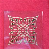 钢意大年夜利丝印系列多种图案门芯玻璃