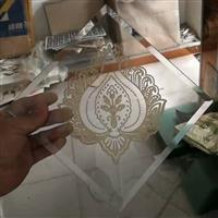 桃心门芯玻璃 装饰印花玻璃