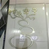 梅花图案门芯玻璃 装饰金色图案花型
