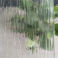 大雨花小雨花树皮纹青岛金晶压花玻璃