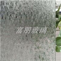 折花 海棠 玉叶 压花玻璃厂家供应