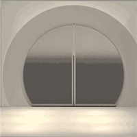 广州采购-圆形玻璃门