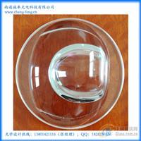 厂家定制不规则路灯玻璃透镜LED光学透镜